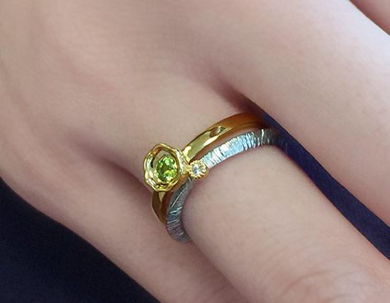 ローズカットダイヤモンド指輪・リング 「ヴィーゾ」